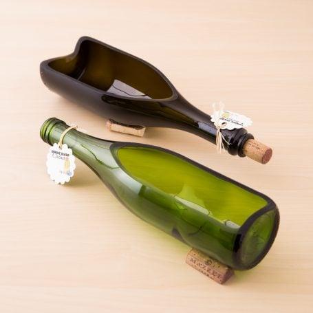 empty wine bottle planters