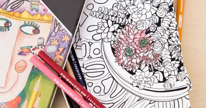 colored pencils filled in succulent coloring card download