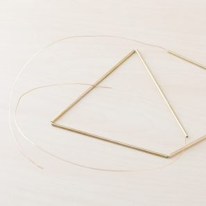 brass tubing for himmeli pyramid project