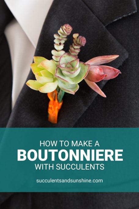 DIY succulent boutonniere tutorial wedding