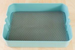 mesh over ikea blue raskog cart shelf