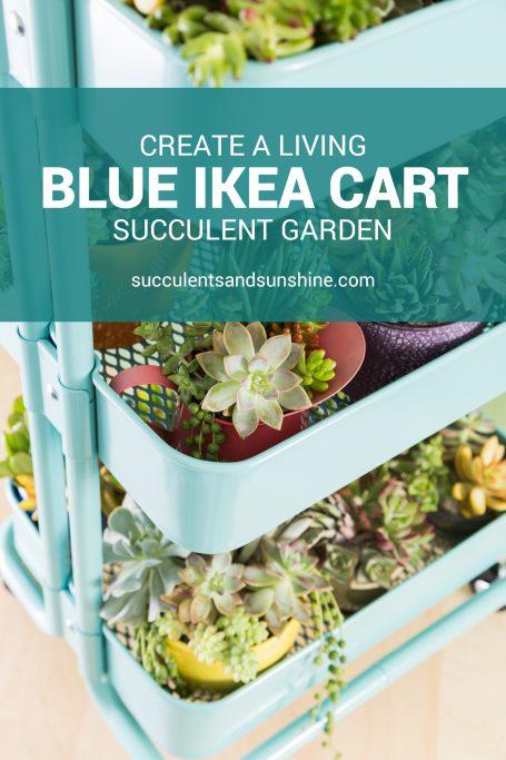 create a garden in an ikea cart