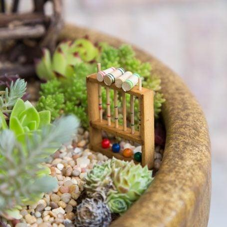 mini succulent croquet garden