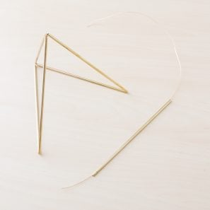 use brass tubing to create a himmeli pyramid