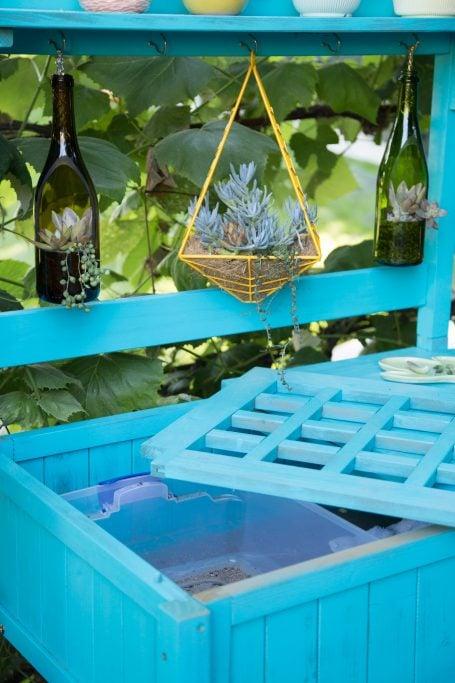 slats in potting bench