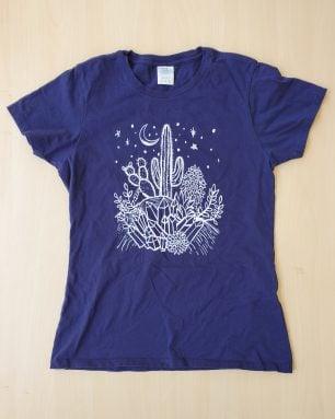 succulents crystals shirt